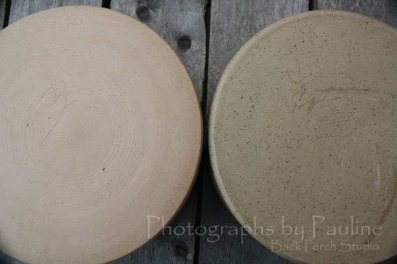 The pot on the left is underfired. The pot on the right fired to temperature.