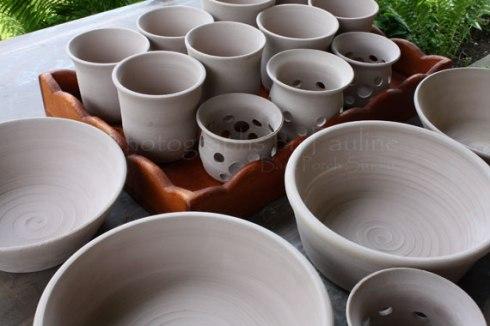 Luminaries, tumblers (handle less mugs ;)  ), and various sized bowls.