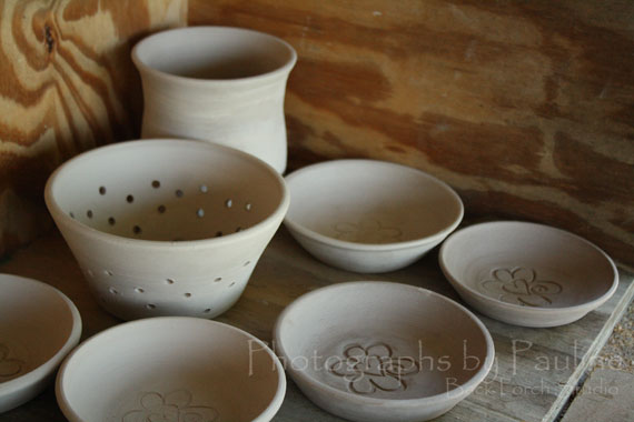 Cute little berry colander and sweet little catchall dishes.