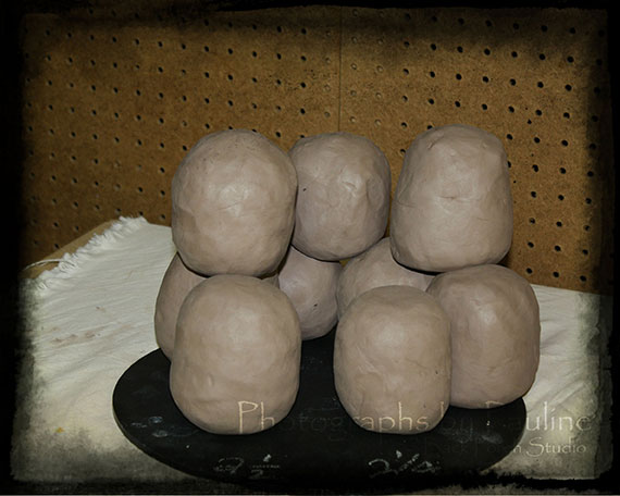 20 pounds of reclaimed clay