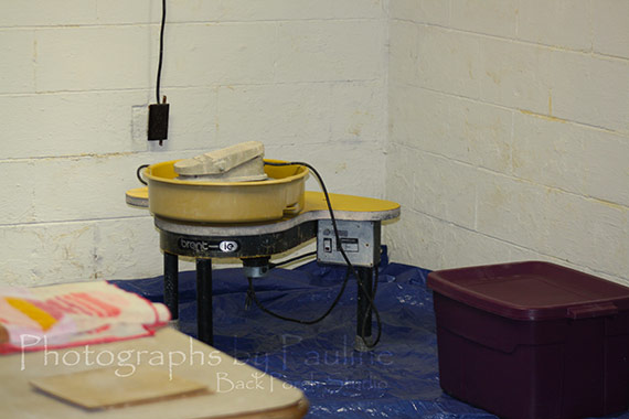 My pottery wheel is in the basement . . .