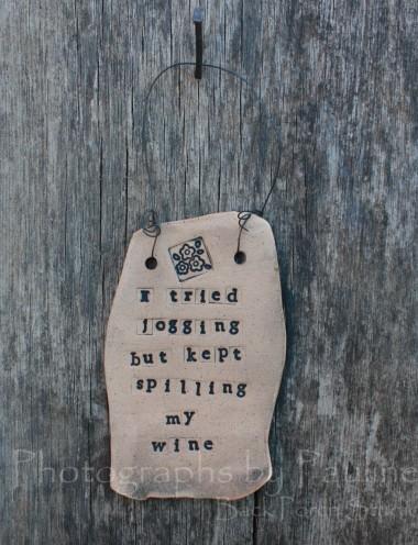 Jogging/Wine Plaque